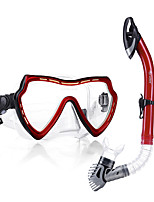 cheap -WAVE Diving Package / Snorkeling Set - Snorkel, Diving Mask - Anti-Fog, Explosion-Proof Snorkeling, Diving, Swimming PVC