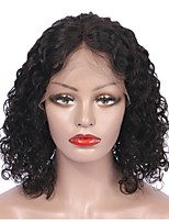 cheap -Remy Human Hair Wig Brazilian Hair Curly Short Bob 130% Density Short Women's Human Hair Lace Wig