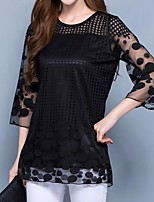 cheap -Women's Basic Blouse - Geometric Print