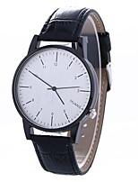 baratos -Mulheres Relógio de Pulso Chinês Criativo / Relógio Casual / Mostrador Grande PU Banda Fashion / Minimalista Preta / Marrom