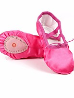 abordables -Femme Chaussures de Ballet Soie Plate Utilisation Talon Plat Personnalisables Chaussures de danse Violet / Jaune / Vert