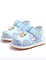 cheap -Girls' Boys' Shoes Linen Summer First Walkers Sandals for Toddler Outdoor Blue Pink