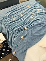 cheap -Coral fleece, Printed & Jacquard Plaid Cotton / Polyester Acrylic Fibers Blankets