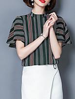 abordables -Tee-shirt Femme, Rayé Glands Rétro Noir & Blanc