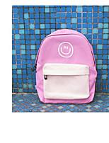 cheap -Unisex Bags Canvas Backpack Zipper Black / Blushing Pink