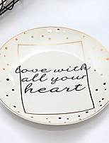 cheap -1 pc Porcelain Heatproof Dinner Plate, Dinnerware
