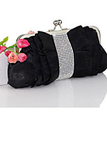 cheap -Women's Bags Canvas Evening Bag Buttons / Crystals for Event / Party White / Black / Coffee