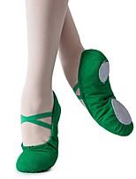 abordables -Fille Chaussures de Ballet Toile Plate Intérieur / Entraînement Talon Plat Personnalisables Chaussures de danse Vert foncé