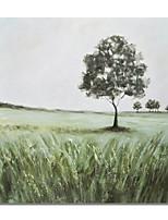 preiswerte -Hang-Ölgemälde Handgemalte - Abstrakt Landschaft Zeitgenössisch Modern Segeltuch