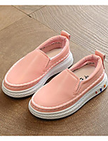cheap -Girls' Shoes PU Spring Comfort Loafers & Slip-Ons for White / Black / Pink