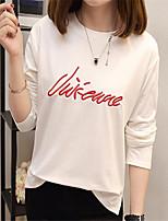 abordables -T-shirt femme - col rond uni