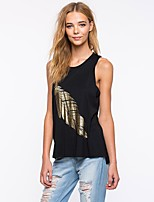 economico -T-shirt Per donna Essenziale Fantasia floreale