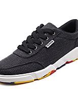 economico -Per uomo Scarpe Tessuto Primavera & Autunno Suole leggere Sneakers Bianco / Nero / Beige