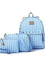 cheap -Women's Bags PU Leather Bag Set 3 Pcs Purse Set Beading / Rivet for Outdoor Black / Blushing Pink / Gray