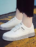 Недорогие -Жен. Обувь Искусственное волокно Лето Удобная обувь Кеды На плоской подошве Белый / Черный