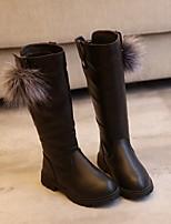 Недорогие -Девочки Обувь Резина / Дерматин Наступила зима Удобная обувь / Модная обувь Ботинки для Черный / Красный / Винный