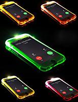 abordables -Coque Pour Apple iPhone X / iPhone 8 Plus Lampe LED Allumage Auto Coque Couleur Pleine Flexible TPU pour iPhone X / iPhone 8 Plus /