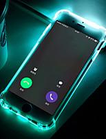 Недорогие -Кейс для Назначение SSamsung Galaxy J7 (2016) / J5 Prime Защита от удара / Мигающая LED подсветка / Прозрачный Кейс на заднюю панель Однотонный Мягкий ТПУ для J7 Prime / J7 (2016) / J5 Prime