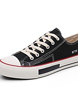 cheap -Men's Shoes Canvas Summer Comfort / Driving Shoes Sneakers White / Black / Red