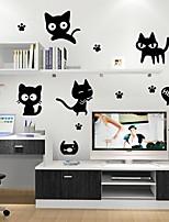 Недорогие -Декоративные наклейки на стены - Простые наклейки Животные Гостиная / Спальня