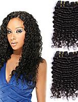 Недорогие -Перуанские волосы Волнистый Накладки из натуральных волос Ткет человеческих волос Удлинитель / Горячая распродажа Черный Все