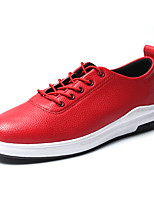 cheap -Men's Shoes PU Spring / Fall Comfort Sneakers Black / Dark Blue / Red