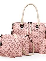 cheap -Women's Bags PU Bag Set 4 Pieces Purse Set Zipper for Formal Blushing Pink / Beige / Brown