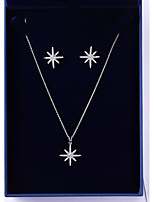 cheap -Women's Cubic Zirconia Jewelry Set - Korean, Fashion Include Drop Earrings / Pendant Necklace White For Wedding / Daily