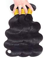 preiswerte -Peruanisches Haar Wellen Menschenhaar spinnt / Echthaar Haarverlängerungen Menschliches Haar Webarten Beste Qualität / Neuankömmling /