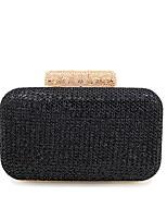 cheap -Women's Bags Terylene Evening Bag Buttons for Wedding / Event / Party Black