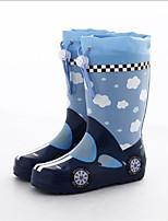 Недорогие -Девочки Обувь Латекс Весна & осень Резиновые сапоги Ботинки для Синий
