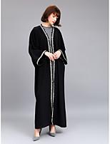 abordables -Abaya Femme - Couleur Pleine Sophistiqué / Chic de Rue Mosaïque