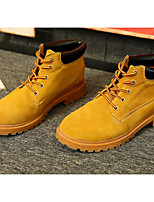 cheap -Unisex Shoes Leather Fall & Winter Bootie Boots Chunky Heel Booties / Ankle Boots Yellow