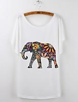 economico -T-shirt Per donna Animali Cotone