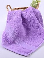abordables -Qualité supérieure Serviette, Couleur Pleine / Rayé Polyester / Coton / 100% Coton 1 pcs