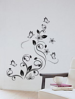 cheap -Decorative Wall Stickers - Plane Wall Stickers Floral / Botanical Living Room / Bedroom