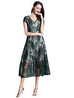 cheap -SHE IN SUN Women's Chinoiserie Sheath Dress - Geometric Lace