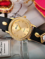 cheap -Women's Simulated Diamond Watch / Unique Creative Watch Chinese Chronograph / Imitation Diamond PU Band Creative / Fashion Black / Red /
