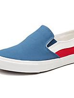 Недорогие -Муж. обувь Полотно Весна Удобная обувь Мокасины и Свитер Синий