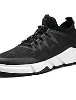cheap -Men's Shoes PU(Polyurethane) Fall Comfort Sneakers Black