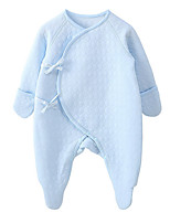 preiswerte -Baby Unisex Solide Langarm Anzug & Overall