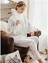 abordables -Col en U Bustiers Correspondants Pyjamas Femme Couleur Pleine