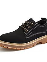Недорогие -Муж. обувь Нубук Осень Удобная обувь Туфли на шнуровке Черный Серый Коричневый