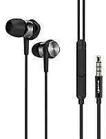 cheap -BW-VOX1 Earbud Wired Headphones Metal Mobile Phone Earphone with Microphone Headset