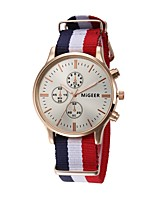 cheap -Women's Quartz Chinese Chronograph Cloth Band Elegant Black / White / Blue / Red