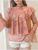 cheap -women's going out blouse - floral stand