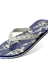 cheap -Men's Slippers House Slippers Ordinary Plastic / Rubber solid color
