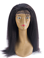 cheap -Remy Human Hair Lace Front Wig Wig Brazilian Hair Straight 130% Density Women's Long Human Hair Lace Wig