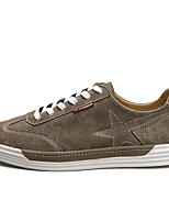 cheap -Men's Shoes Pigskin Fall Comfort Sneakers Black / Gray / Khaki