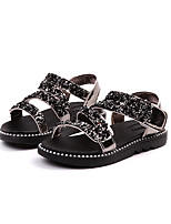 cheap -Girls' Shoes TPU Summer Comfort Sandals Magic Tape for Kids Black / Silver / Pink